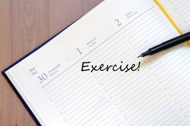 Schedule exercise for working out on vacation