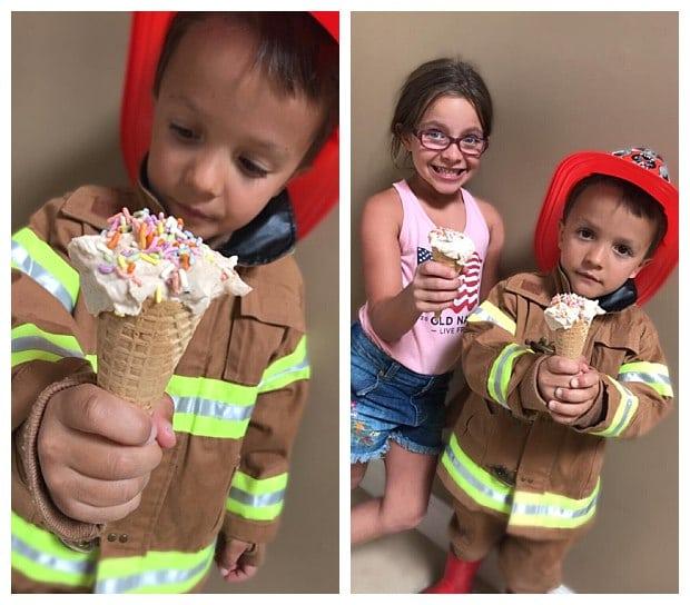 Yogurt ice cream is a healthful summer snack idea for kids
