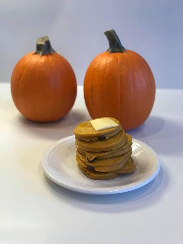 PumpkinPieProteinPancakes