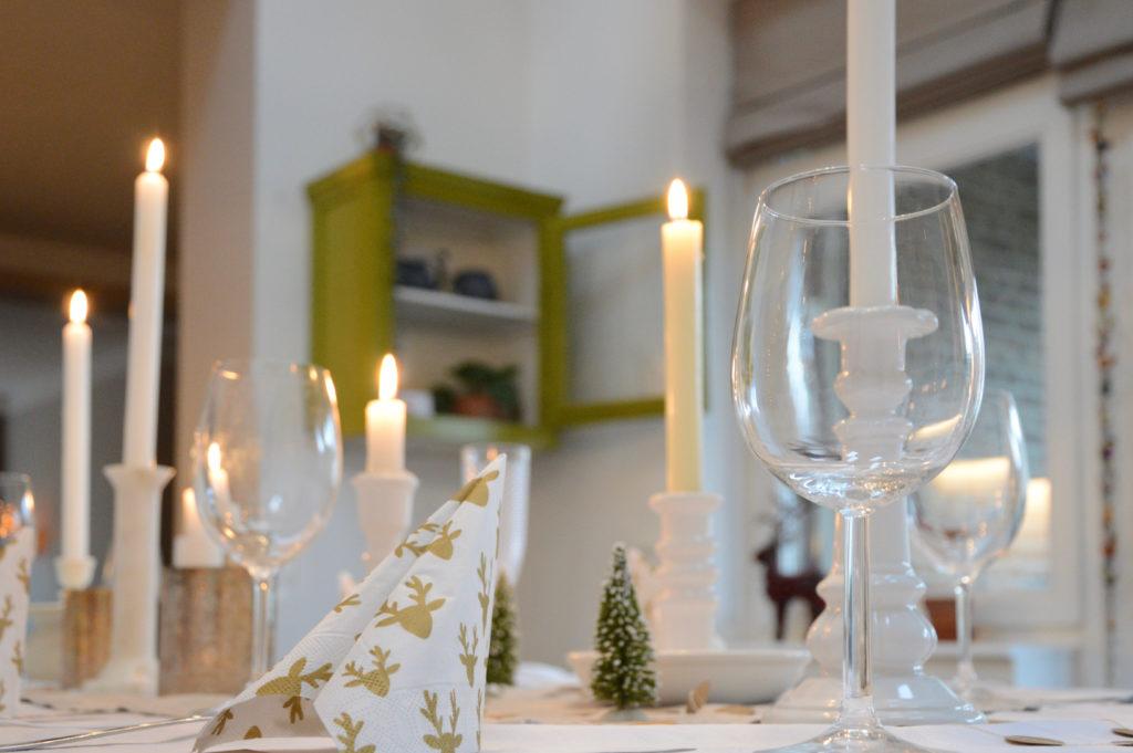 Kersttafel wit