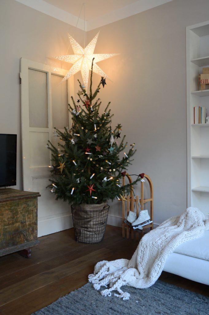 kerstboom met deur