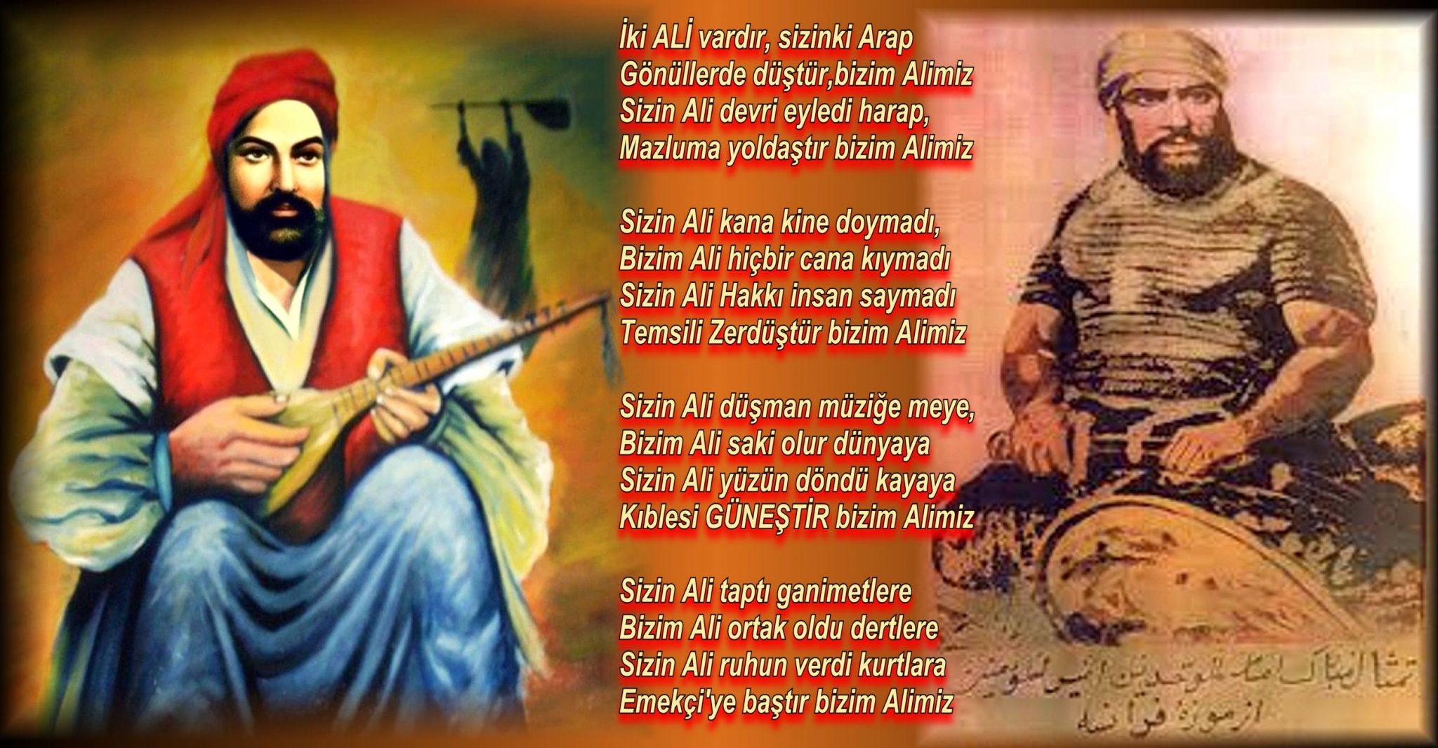 Alevi Bektaşi Kızılbaş Pir Sultan Devrimci Aleviler Birliği DAB arap ali kizilbas saz 2 ali vardir