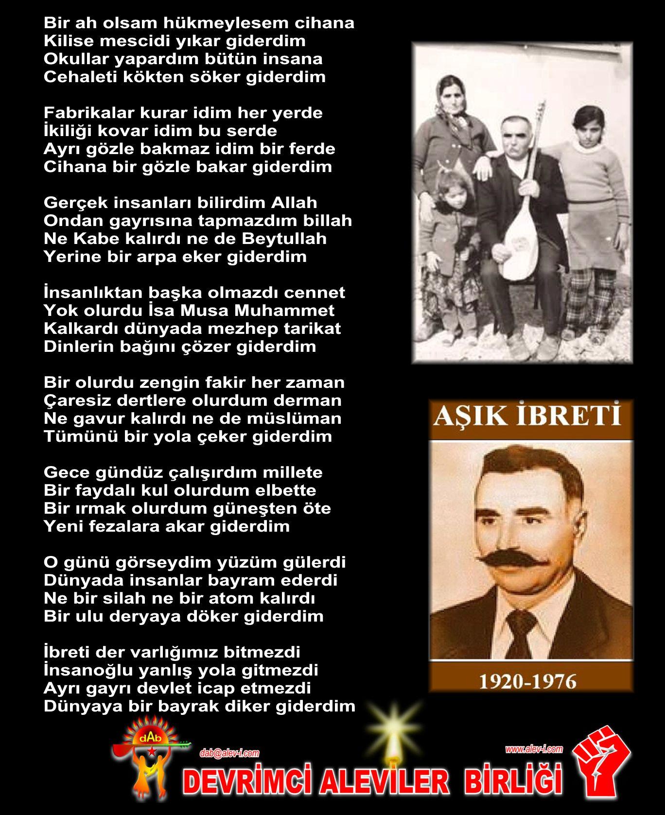 Alevi Bektaşi Kızılbaş Pir Sultan Devrimci Aleviler Birliği DAB ibreti bayrak diker giderdim