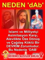 Devrimci Aleviler Birliği DAB Alevi Kızılbaş Bektaşi pir sultan cem hz Ali 12 imam semah Feramuz Şah Acar Bu nedenle DAB
