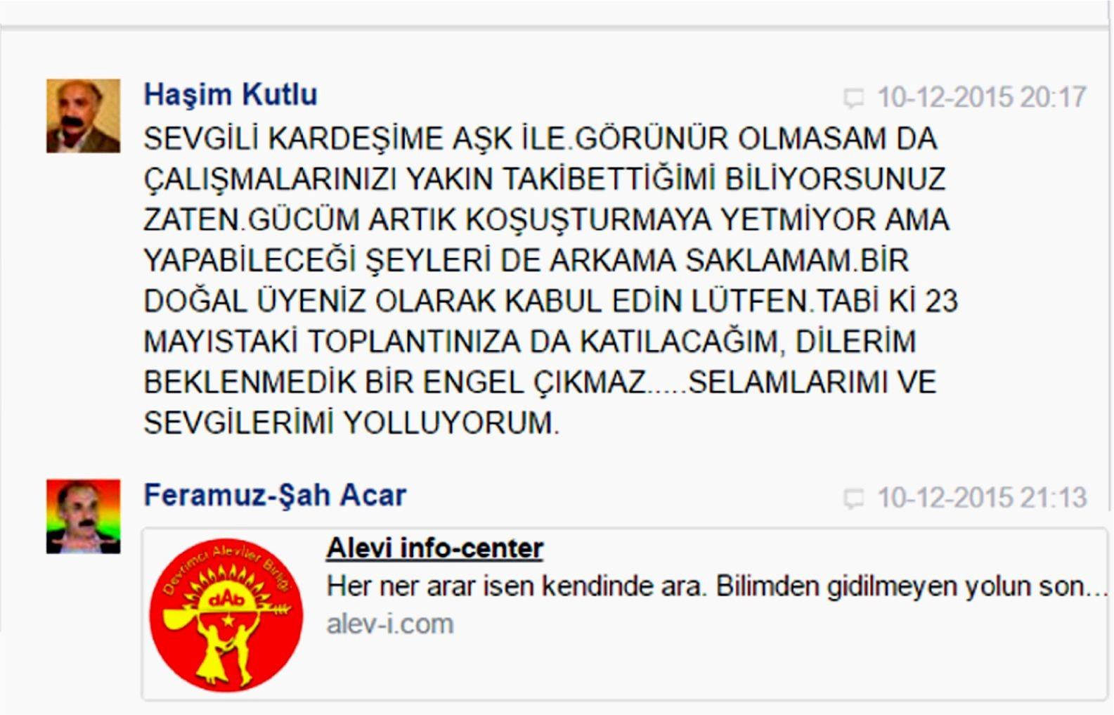 Devrimci Aleviler Birliği DAB Alevi Kızılbaş Bektaşi pir sultan cem hz Ali 12 imam semah Feramuz Şah Acar hasim kutlu 2