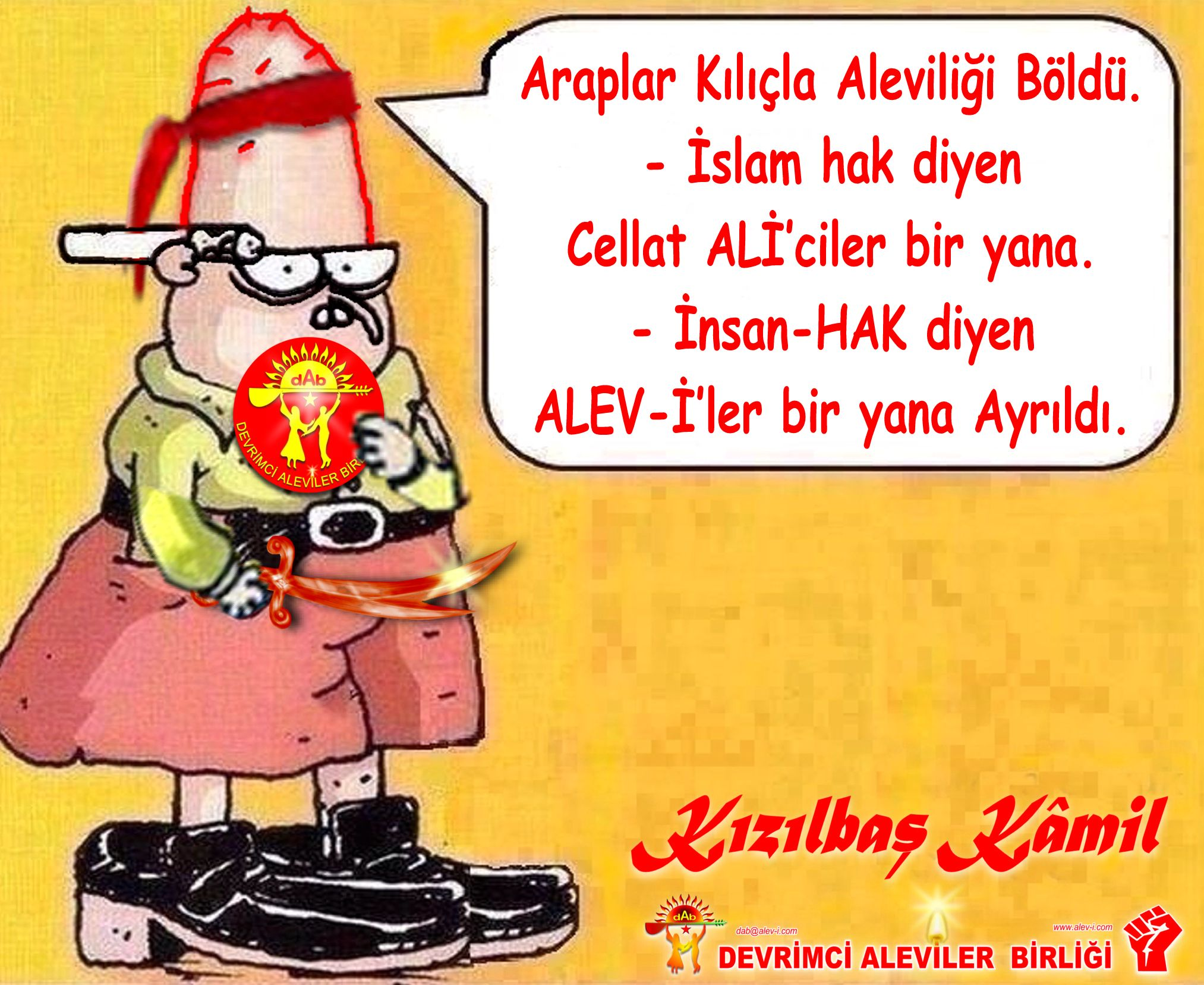 Devrimci Aleviler Birliği DAB Alevi Kızılbaş Bektaşi pir sultan cem hz Ali 12 imam semah Feramuz Şah Acar kizilbas kamil arap aleviligi boldu