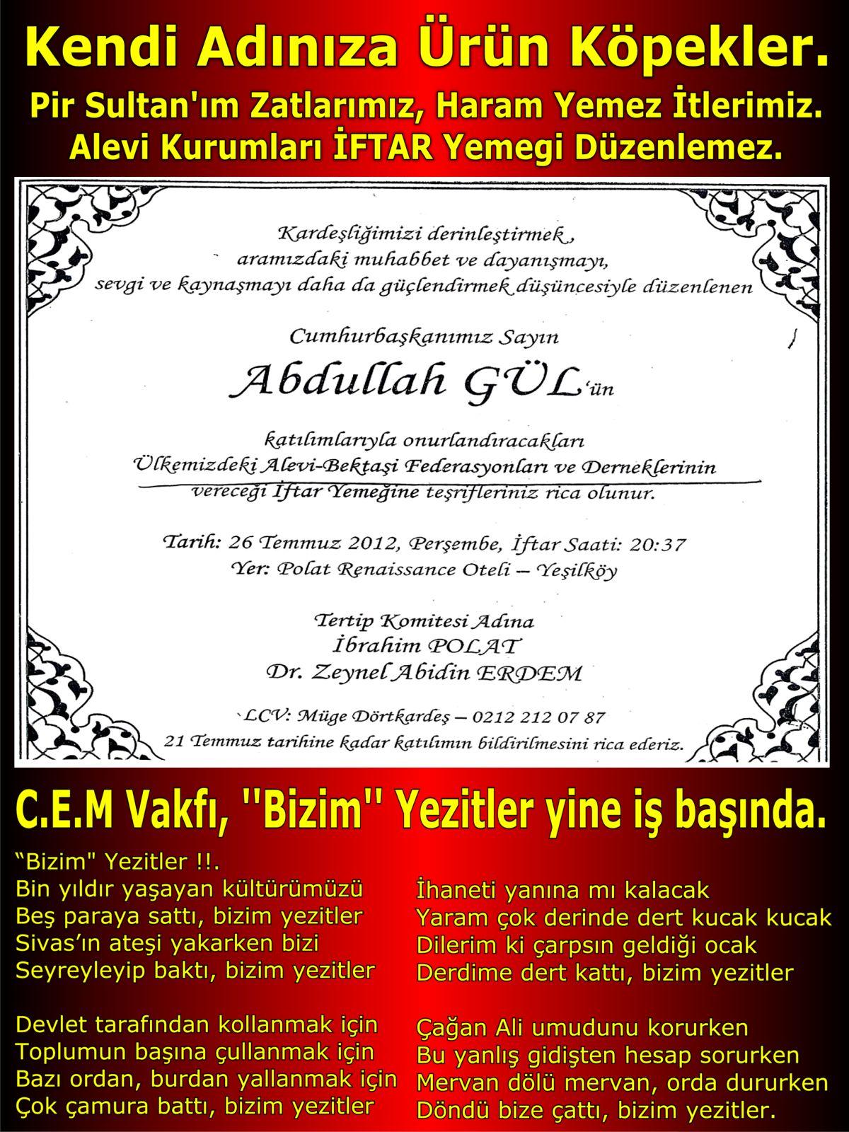 Devrimci Aleviler Birliği DAB Alevi Kızılbaş Bektaşi pir sultan cem hz Ali 12 imam semah Feramuz Şah Acar köpekler