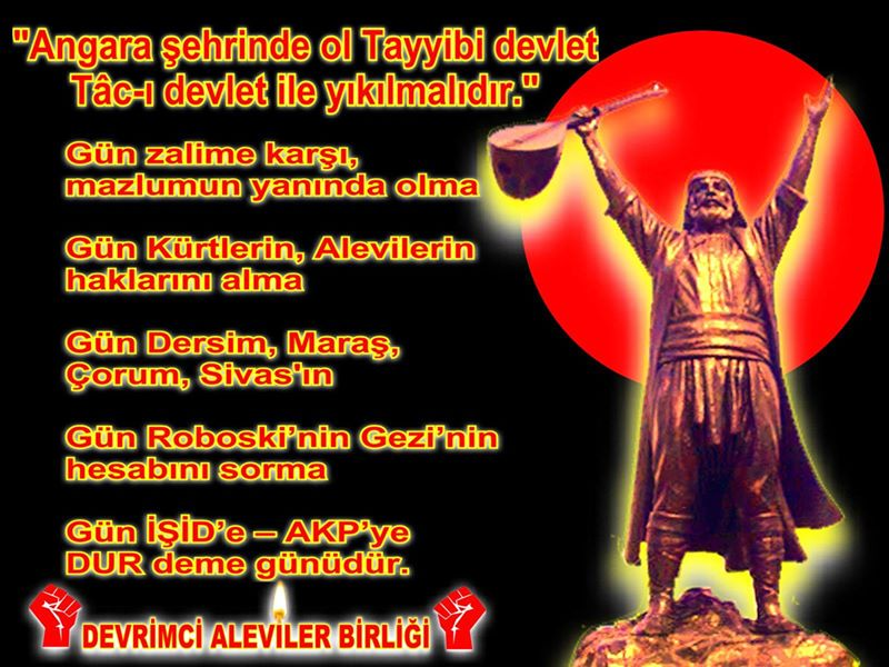 Devrimci Aleviler Birliği DAB Alevi Kızılbaş Bektaşi pir sultan cem hz Ali 12 imam semah Feramuz Şah Acar photo_401409683340760
