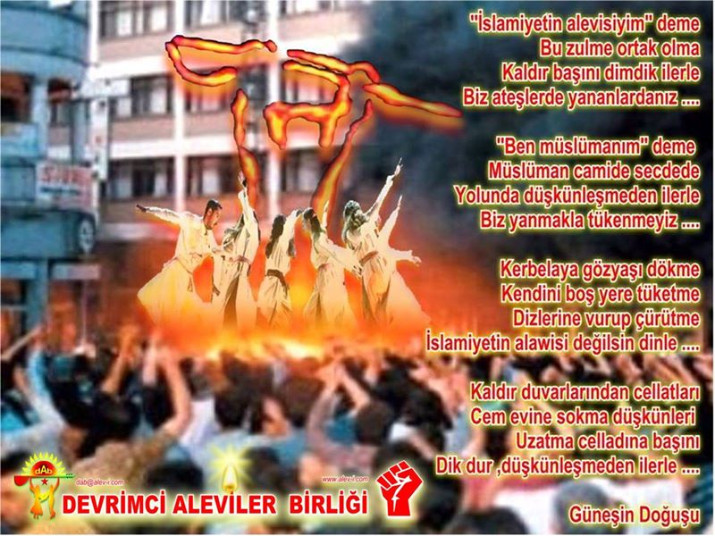 Devrimci Aleviler Birliği DAB Alevi Kızılbaş Bektaşi pir sultan cem hz Ali 12 imam semah Feramuz Şah Acar photo_472429566238771
