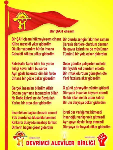 Devrimci Aleviler Birliği DAB Alevi Kızılbaş Bektaşi pir sultan cem hz Ali 12 imam semah Feramuz Şah Acar photo_594893753992351