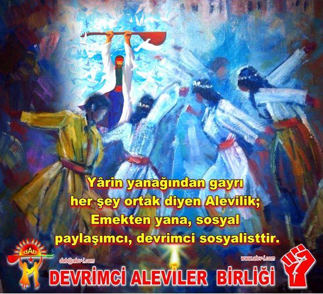 Devrimci Aleviler Birliği DAB Alevi Kızılbaş Bektaşi pir sultan cem hz Ali 12 imam semah Feramuz Şah Acar photo_622617651219961