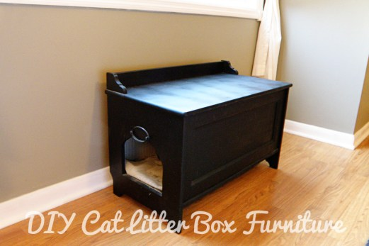 DIY Cat Litter Box Furniture