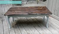 Before & After: Oversized, Rustic Coffee Table Redo ...