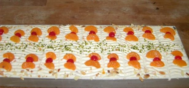 Sonntagskuchen mit lecker Mandarinen
