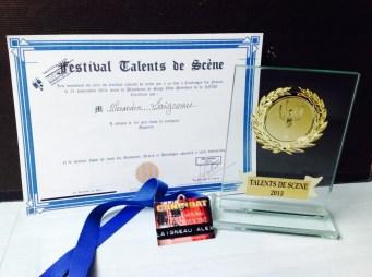 1er prix magicien festival talents de scène 2023 Nevers