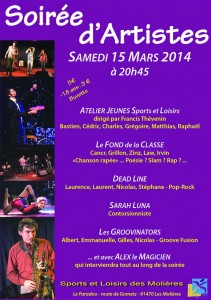 Soirée d'artistes 91 Essonne