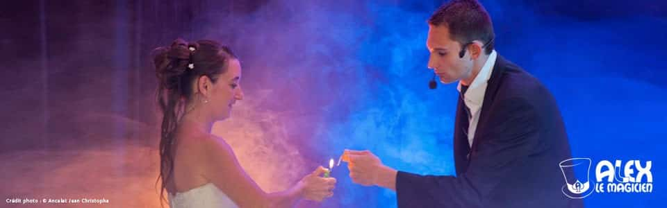 Magicien mariage animation magie