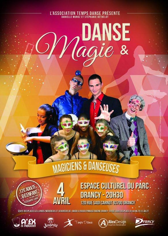 Spectacle Danse & magie à Drancy Espace culturel du Parc