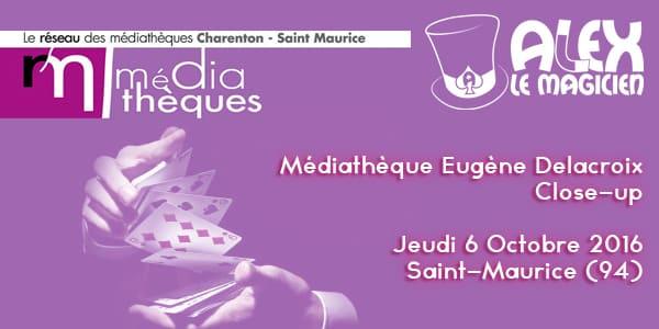 Médiathèque Eugène Delacroix Magicien Saint Maurice 94