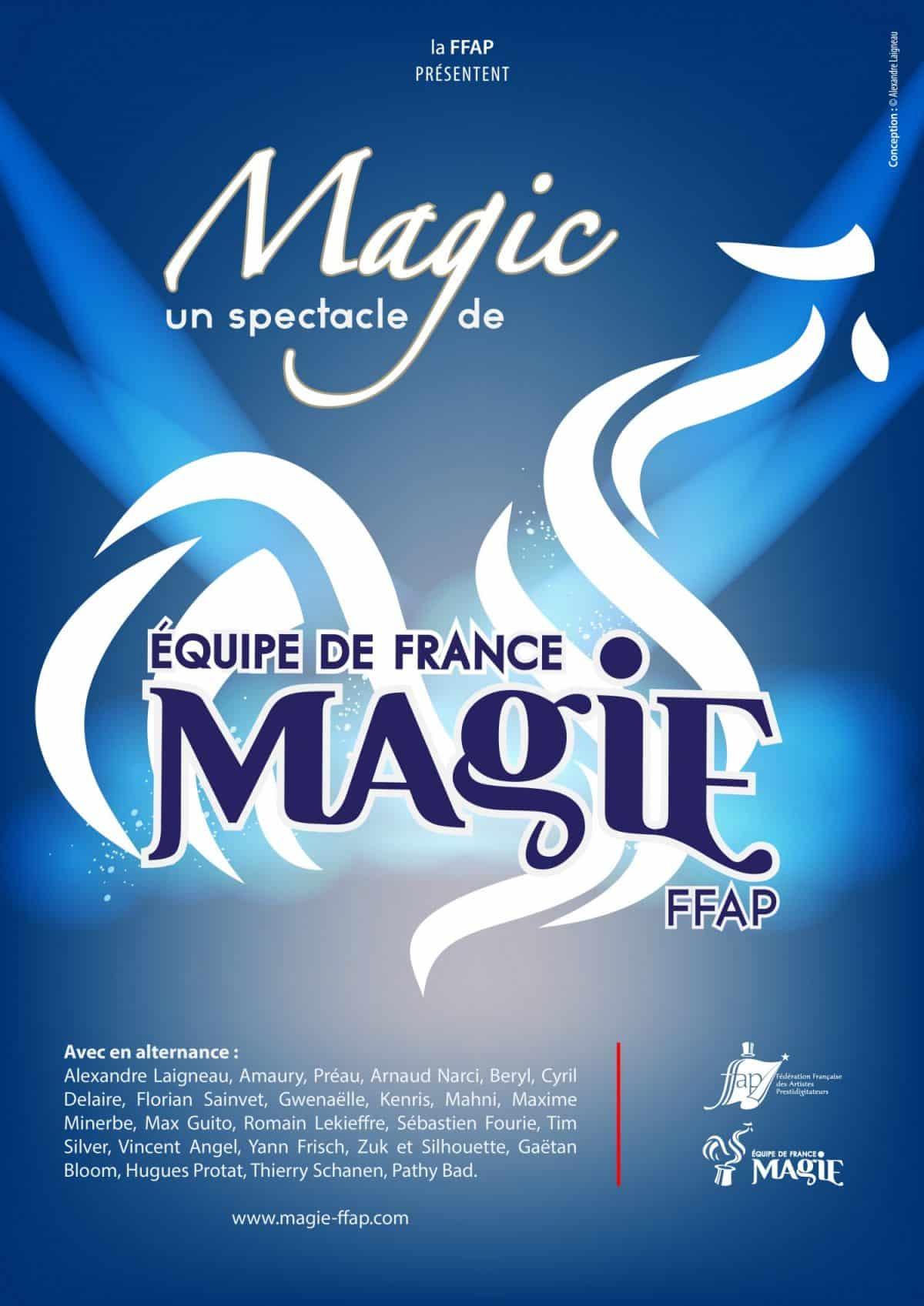 Affiche équipe de France de magie FFAP