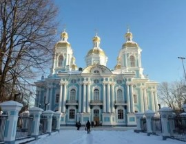 Nikolaus-Marine-Kathedrale in St. Petersburg
