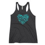 Gun Love Women's Tank Charcoal-Black Triblend