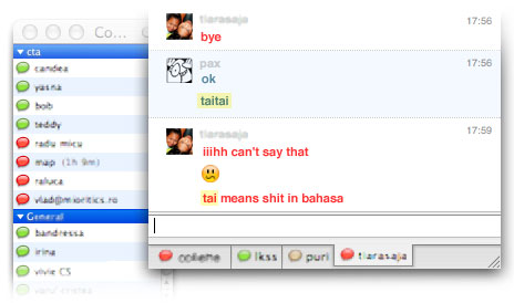 tai means shit in bahasa