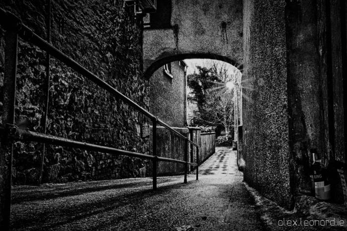 Covered alleyway - Ballycastle - Photo by Alex Leonard