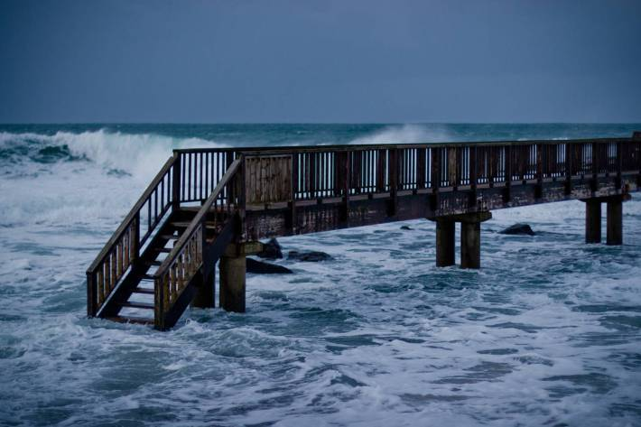 Isolated foot bridge - photo by Alex Leonard