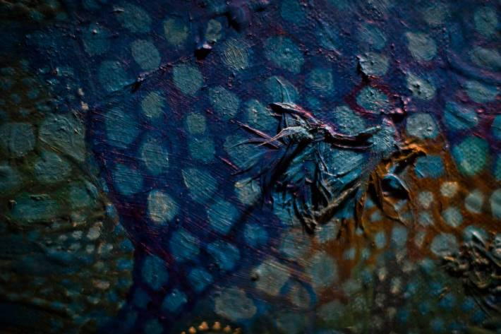 Painting detail - Macro - A photo By Alex Leonard