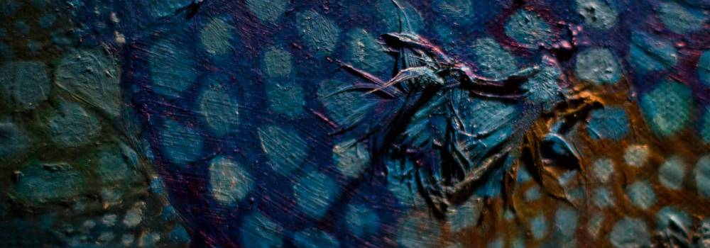 Painting detail - Macro - A photo By Alex Leonard