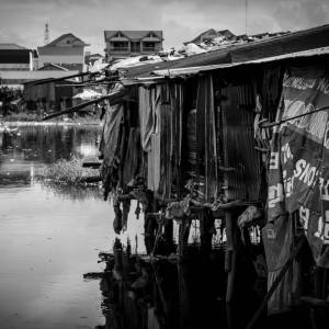 Shacks near Boeung Trabek Lake - Photo by Alex Leonard