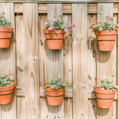 DIY Hanging Wall Planters