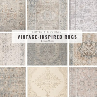 Vintage-Inspired & Layered Rugs