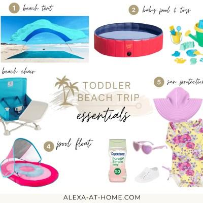 5 Toddler Beach Trip Essentials