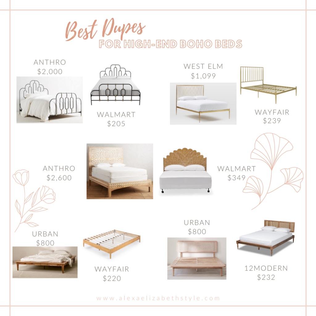 Best Dupes For High End Boho Beds 2020 Alexa Elizabeth Style Blog