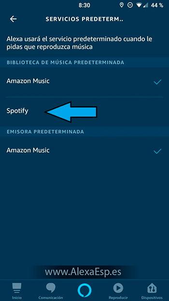 Cómo configurar y utilizar Spotify, Deezer o Apple Music en Alexa (Amazon Echo) paso 10