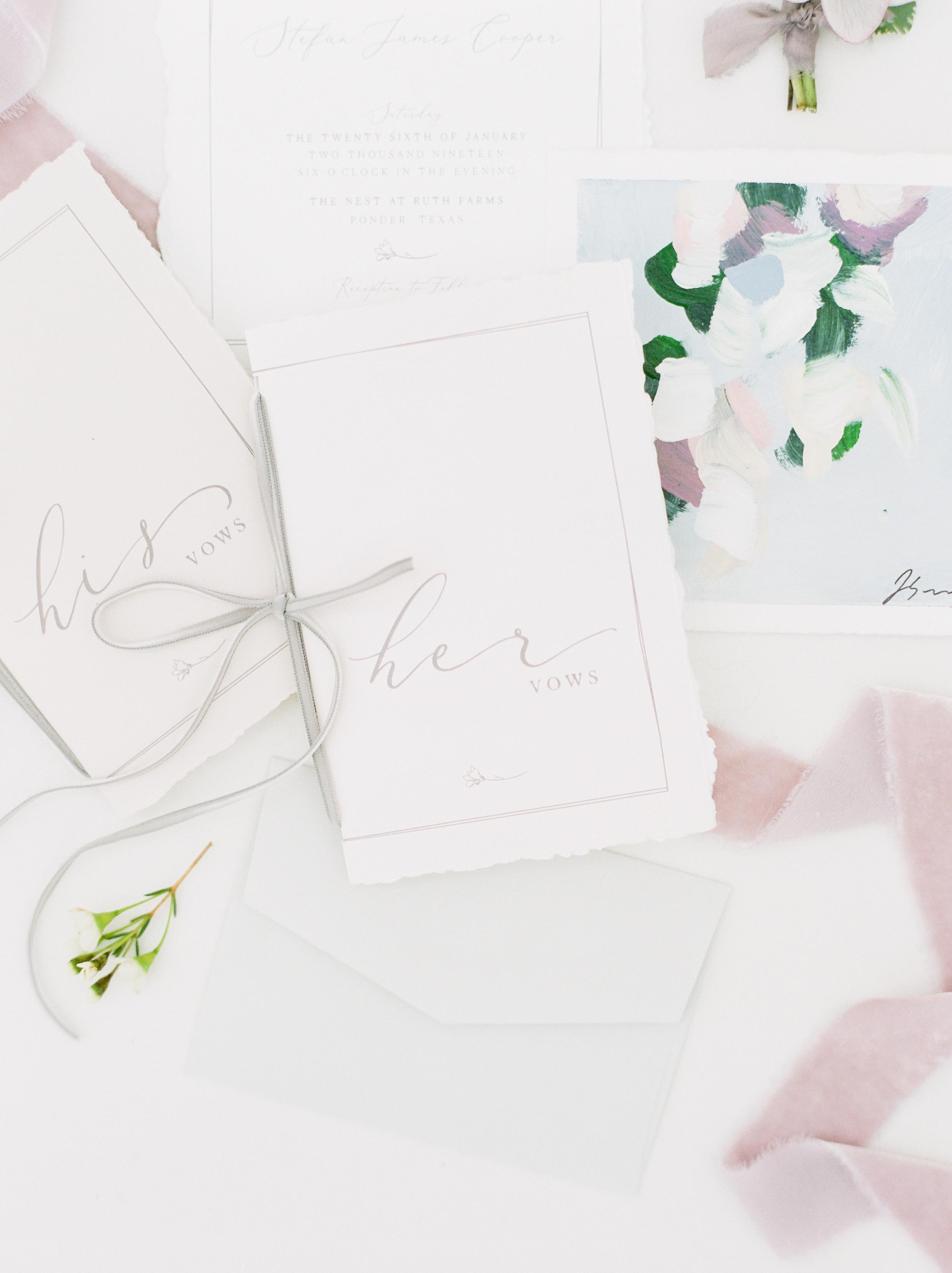 Wedding vow book designs
