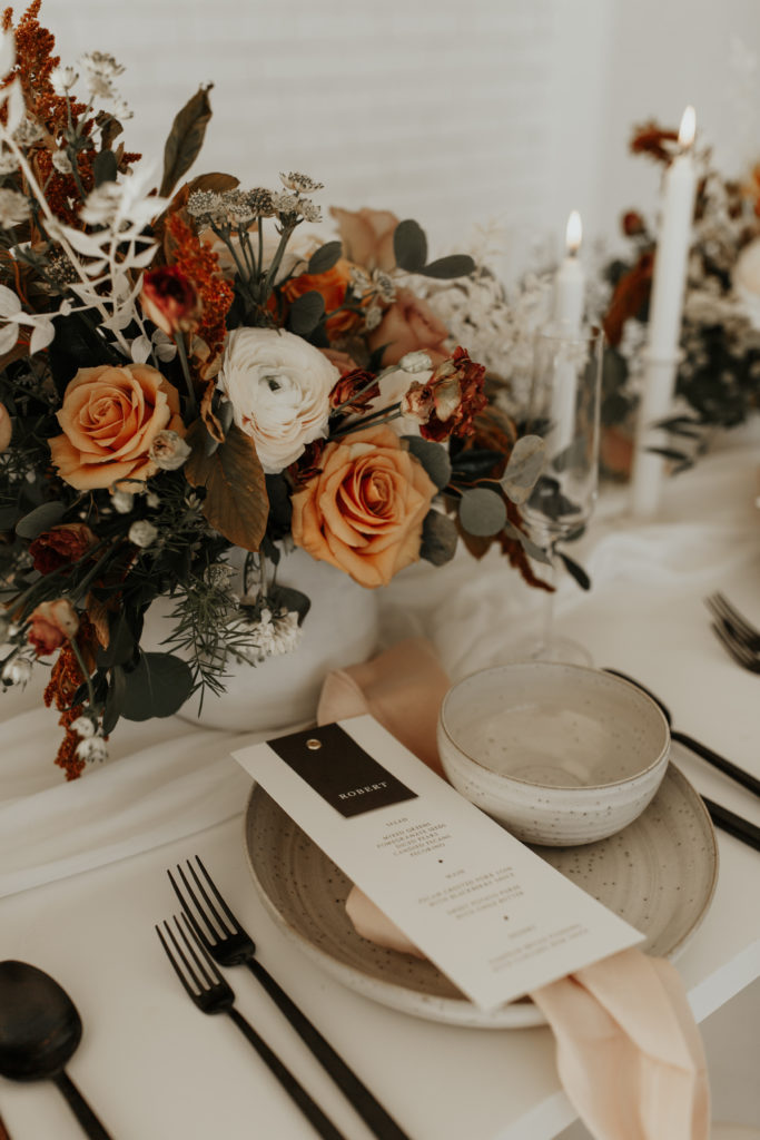 Flowers by The Shabby Rose - Modern styled shoot at The Emerson with Madeline Shea Photography and Alexa Kay Events | Dallas DFW Wedding Planner