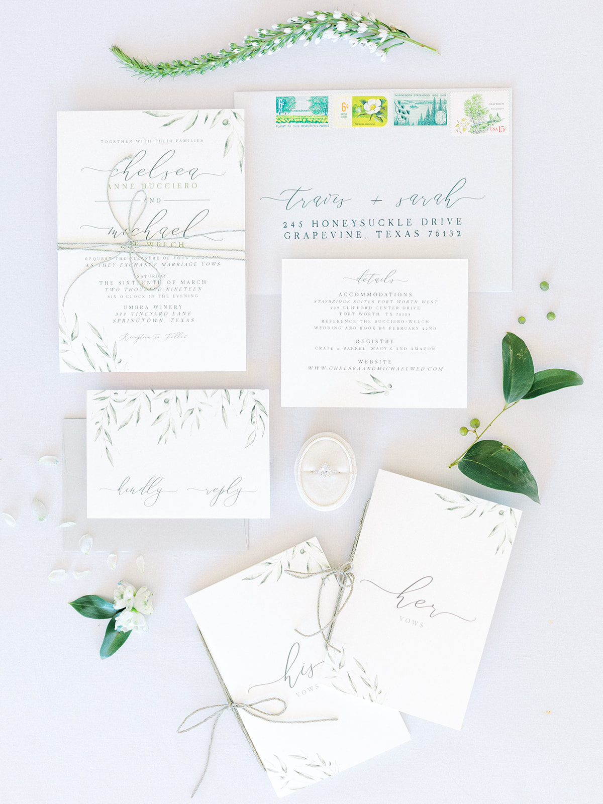 Wedding stationery: Elopement vineyard wedding at Umbra Winery by Alexa Kay Events. See more wedding ideas at alexakayevents.com!