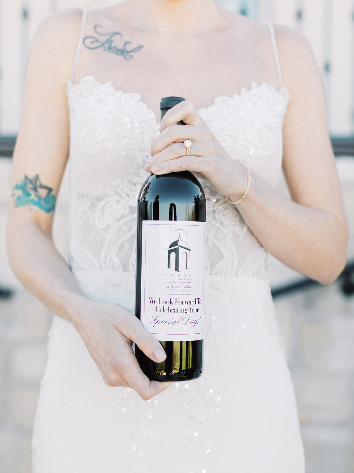 Wine for vineyard wedding: Elopement vineyard wedding at Umbra Winery by Alexa Kay Events. See more wedding ideas at alexakayevents.com!