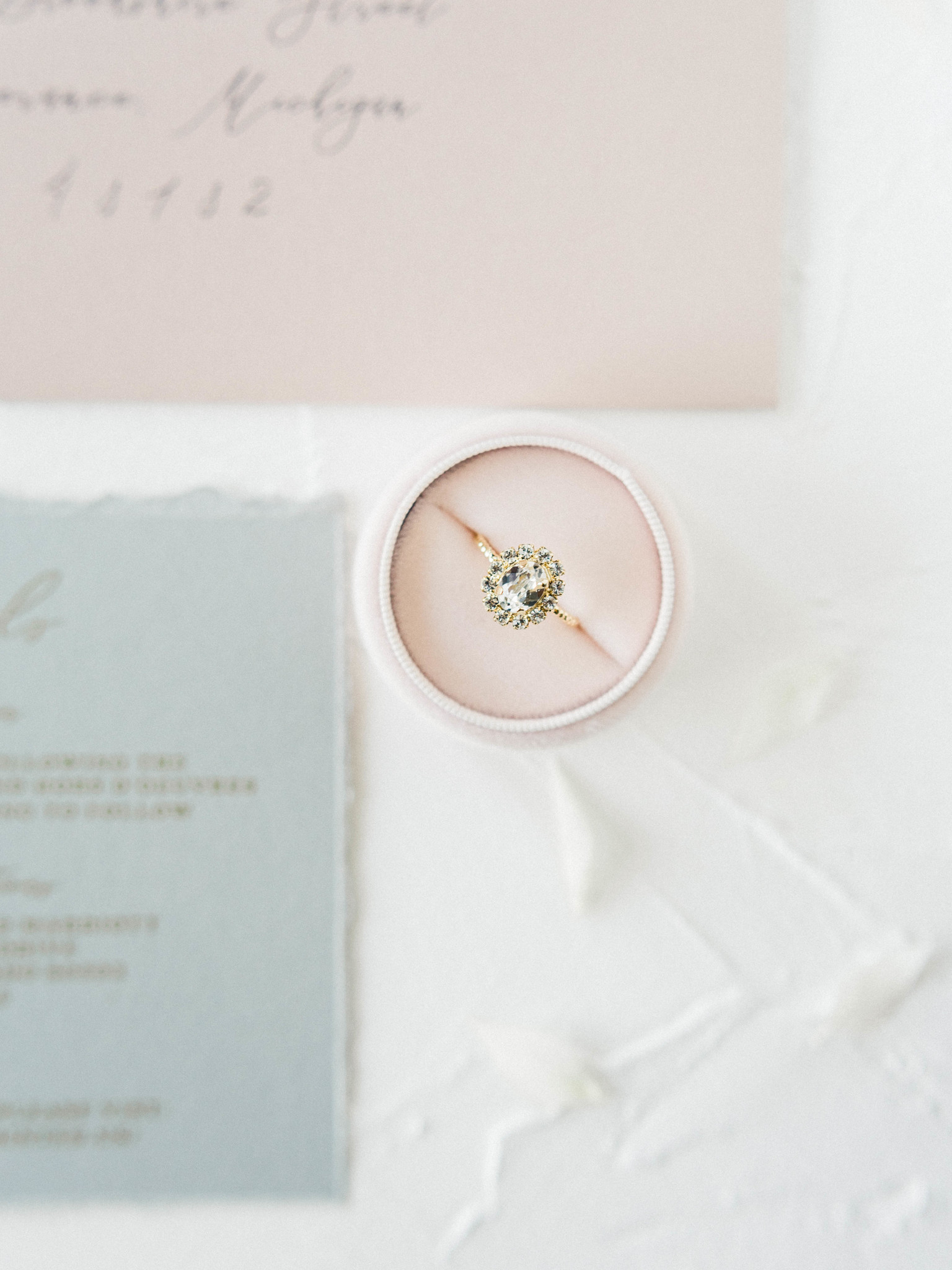 Wedding ring: Whimsical mauve wedding inspiration on Alexa Kay Events. See more romantic wedding ideas at alexakayevents.com!