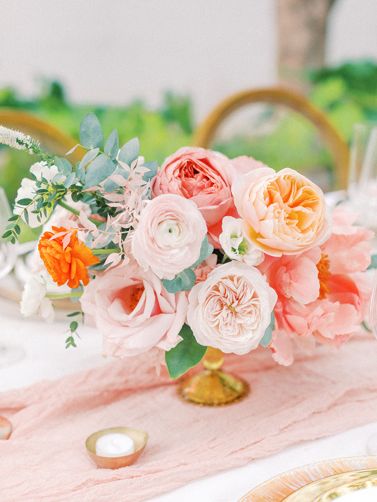 Pink and orange wedding flowers: Beach Wedding Inspiration | Dominican Republic