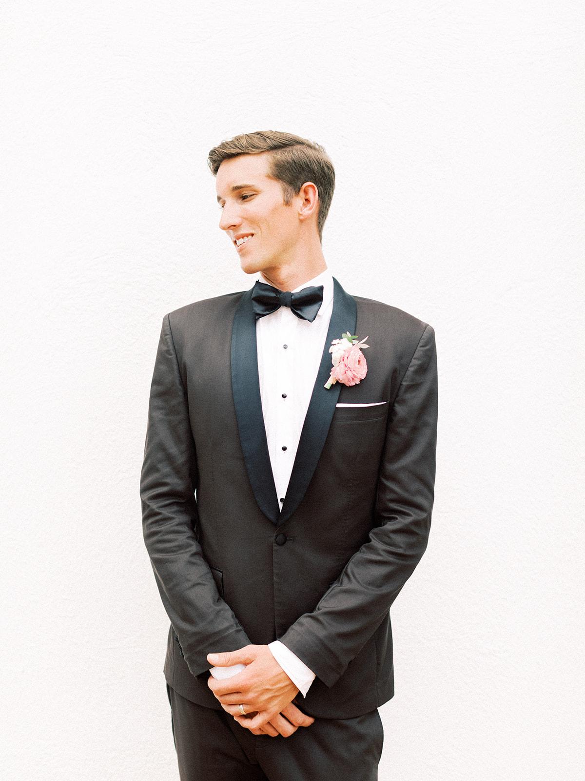 Classic black tuxedo: Beach Wedding Inspiration | Dominican Republic