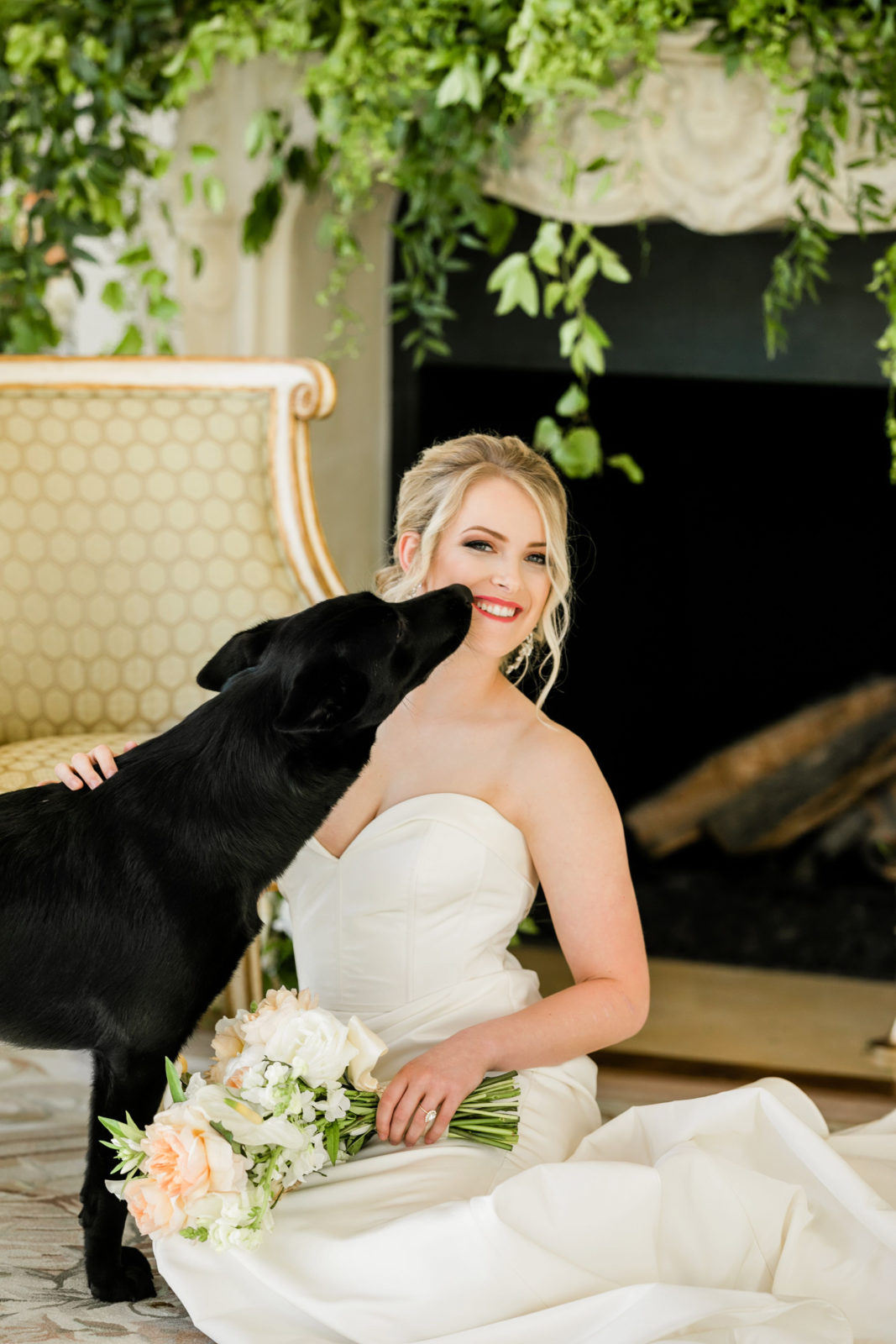 Dogs at weddings: Sophisticated and Chic wedding inspiration on Alexa Kay Events