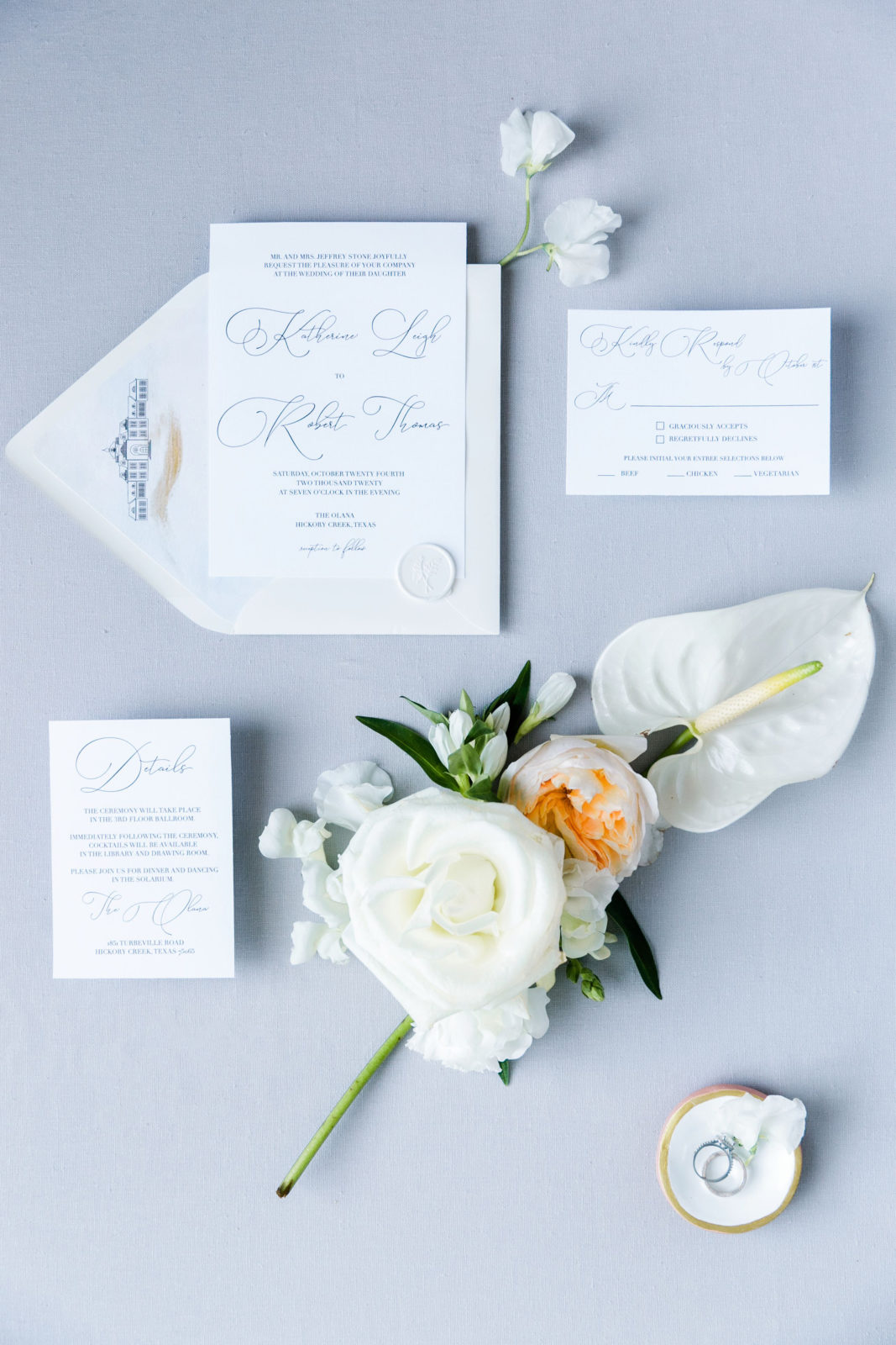 Wedding invitation suite: Sophisticated and Chic wedding inspiration on Alexa Kay Events