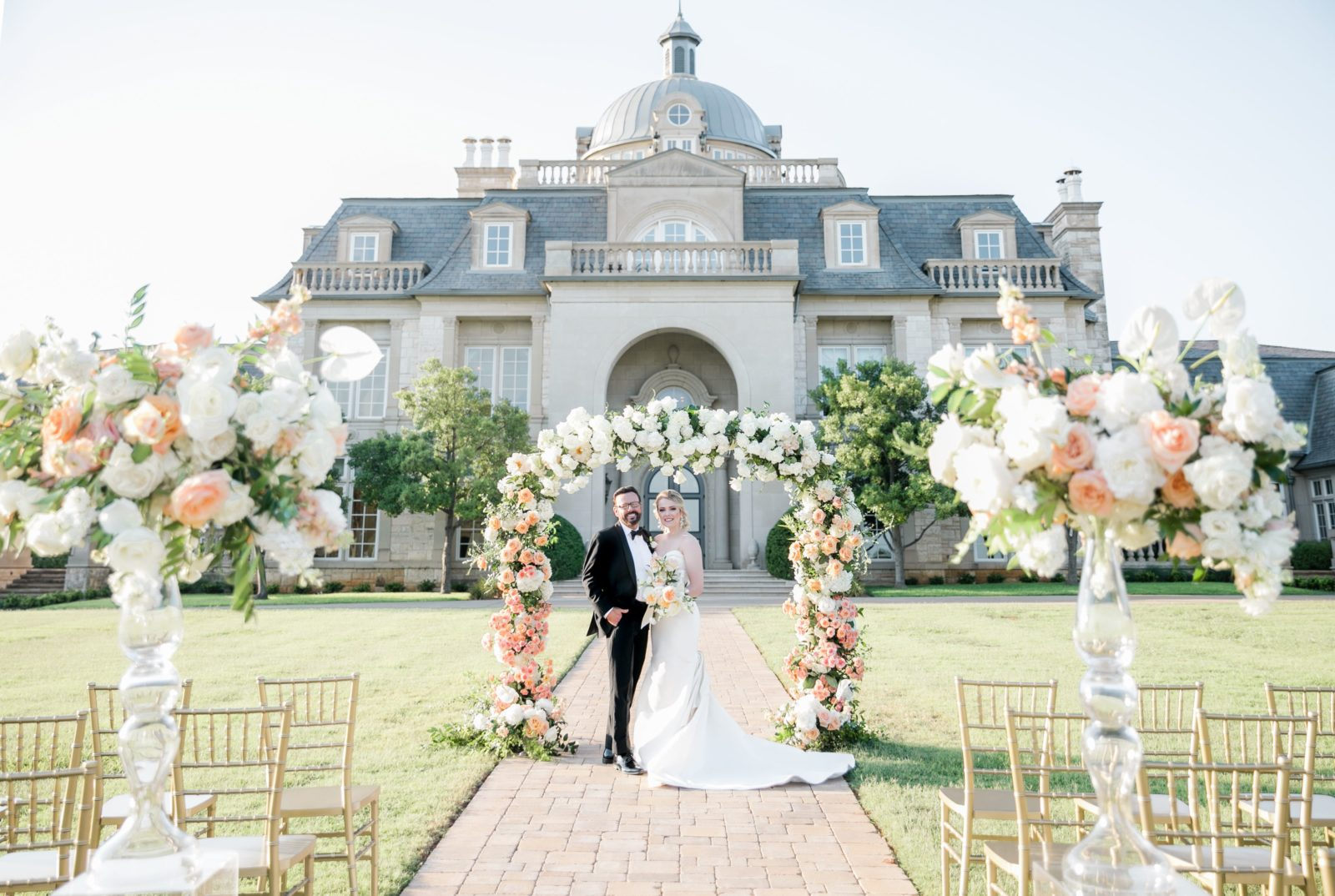 Outdoor wedding ceremony at The Olana: Sophisticated and Chic wedding inspiration on Alexa Kay Events