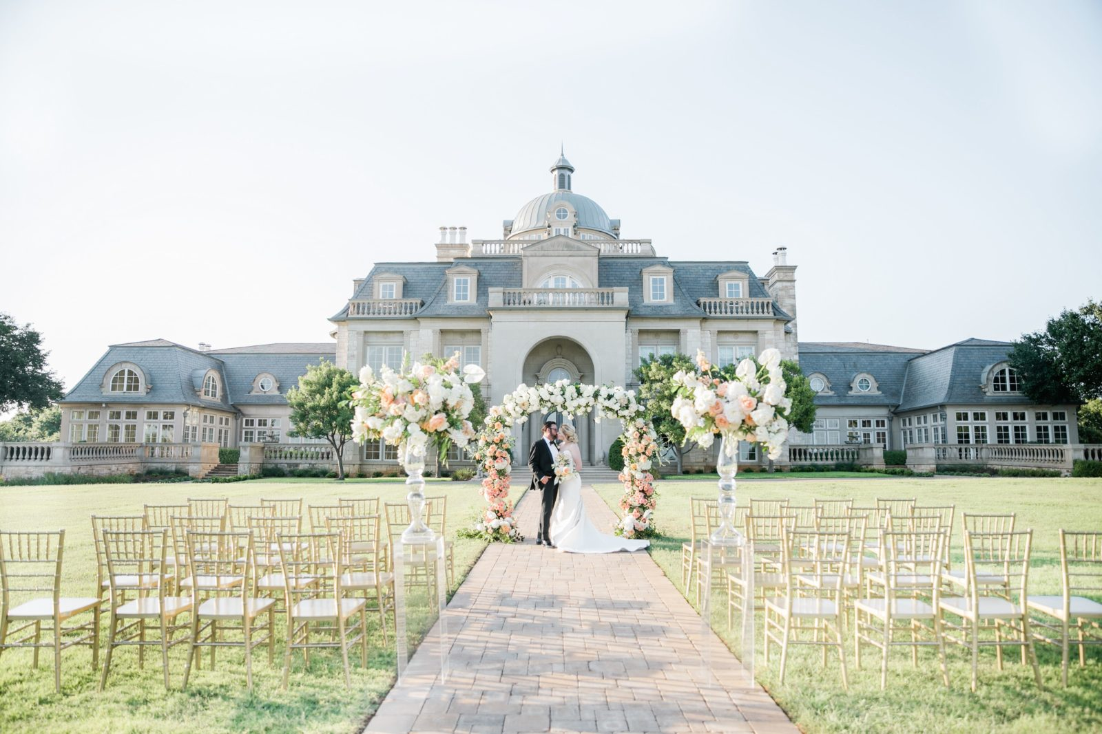 Outdoor wedding ceremony setup: Sophisticated and Chic wedding inspiration on Alexa Kay Events