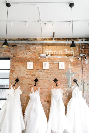 Wedding dress designs featured at WED Bridal Boutique. Learn more about this dress boutique on Alexa Kay Events!