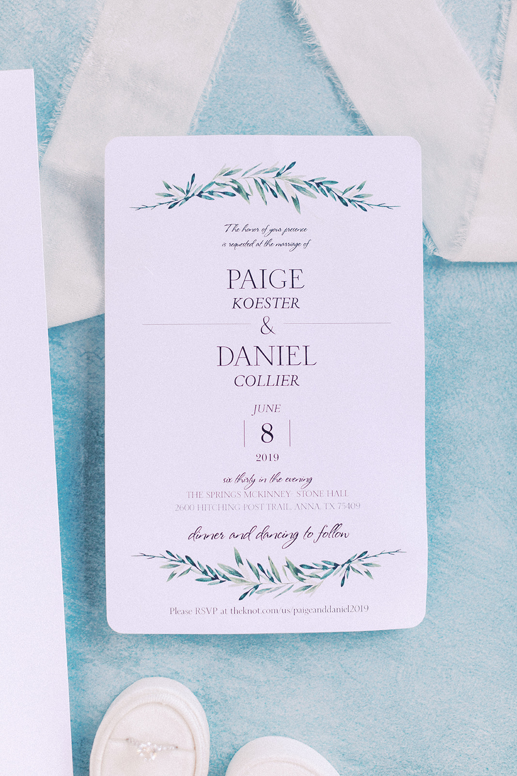 Wedding stationery design: | Romantic blue Texas wedding at Spring Venue by Alexa Kay Events